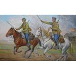 Zvezda 1:72 Soviet Cavalry (Military small set) 6161 figura makett