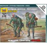 Zvezda 1:72 Ger. Medical Personnel 41-43 6143 figura makett