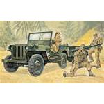 Italeri -1:35Willis MB Jeep with Trailer 0314 dzsip makett