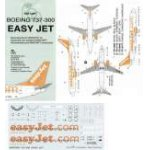 "Boa decals 1:144 - Boeing 737-300 ""Easy Jet"" matrica szett"