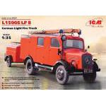 ICM - 1:35 L1500S LF 8, German Light Fire Truck - német tűzoltó makett