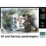 Masterbox 1:35 US and German paratroopers, the South of Europe, 1944