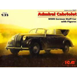 ICM - 1:35  Admiral Cabriolet, WWII German Staff Car with Figures