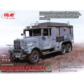 ICM - 1:35  Henschel 33 D1 Kfz.72, WWII German Radio Communication Truck