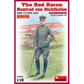 Miniart 1:16 - The Red Baron - Manfred von Richthofen, WWI Flying Ace
