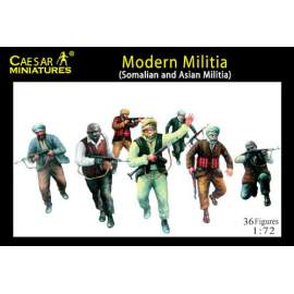 Caesar Miniatures 1:72 - Modern Militia (Somalian and Asian Militia)