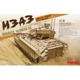 Meng Model 1:35 M3A3 Bradley w/Busk III U.S. Cavarly Fighting Vehicle