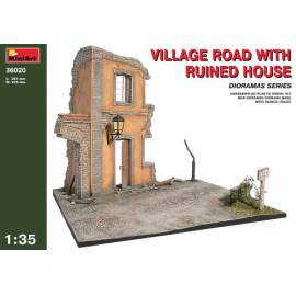 Miniart 1:35 - Village Road with Ruined House