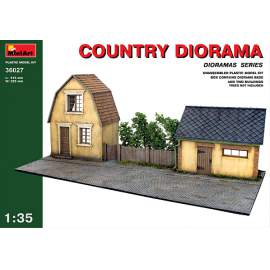 Miniart 1:35 - Village house and barn fronts with diorama bases Country dio