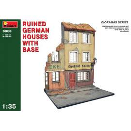 Miniart 1:35 - Ruined German houses with base