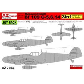 "AZ Model - 1:72 Messerschmitt Bf-109G-5. G-6, G-14 ""Joy Pack"""
