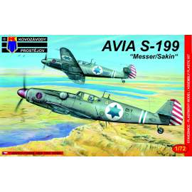 "KP Model - 1:72 Avia S-199 late Israel (""Messer/Sakin"")"