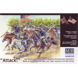 Masterbox - US Civil War Series:The Attack of the 8th Pennsylvania Cavalry