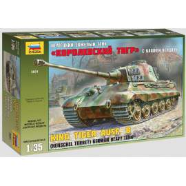 Zvezda 1:35 King Tiger Ausf. B (Henschel Turret) German Heavy Tank