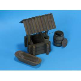 Eureka 1:35 Wooden Water Well (fa kerekes kút)