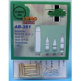 Eureka 1:35 - 7,5 cm Ammo for Kw.K.40/Stu.K.40 L/43 and L/48