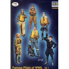 Master Box 1:32 - Famous pilots of WWII. Kit no.1. figura makett