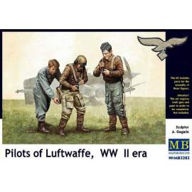 Master Box 1:32 - Pilots of Luftwaffe, WWII Era figura makett