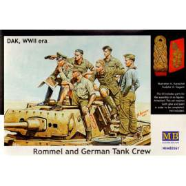 Masterbox 1:35 German (WWII) Tank Crew, Afrika Korps including Rommel