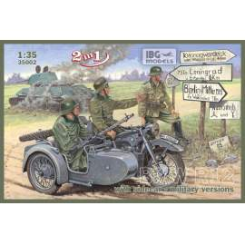 IBG Model 1:35 BMW R12 with sidecar - military version  ( 2 in 1)