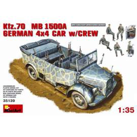Miniart - 1:35 Kfz.70 (MB 1500A) German 4x4 Car with Crew