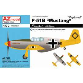 "AZ Model 1:72 P-51B MUSTANG ""CAPTURED"""