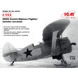 ICM 1:48 Polikarpov I-153 WWII Soviet Biplane Fighter (winter version)
