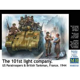 Master Box 1:35 The 101st light company. US Paratroopers & British Tankman