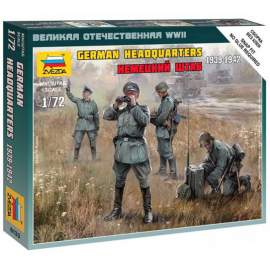 Zvezda 1:72 - German HQ WWII Military small set