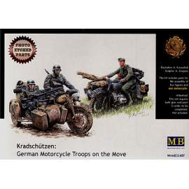 Masterbox 1:35 Kradschutzen: German Motorcycle Troops on the Move