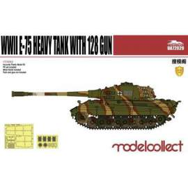 Modelcollect 1:72 German WWII E-75 Heavy Tank with 128mm gun