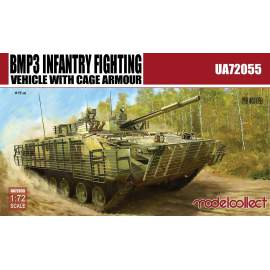 Modelcollect 1:72 BMP3 Infantry Fighting Vehicle with Cage Armour