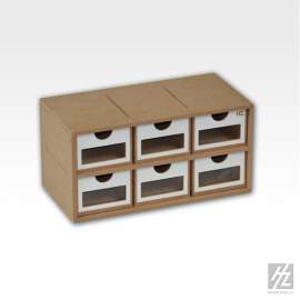 HZ Model - Drawers Module x 6 (6 darabos fiókos modul)