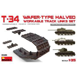 Miniart 1:35 T-34 Wafer-Type Halved Workable Track Links Set