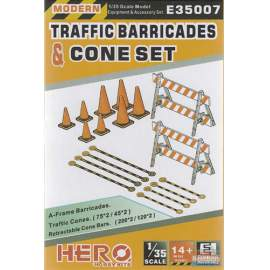 Hero Hobby 1:35 Traffic barricades and cone set