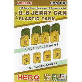 Hero Hobby 1:35 Modern US jerry can and plastic tank set
