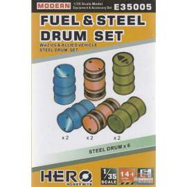 Hero Hobby 1:35 WWII US and allied vehicles steel fuel drum set