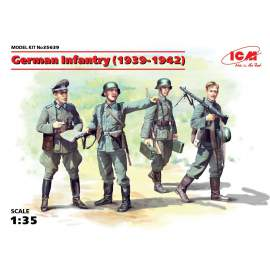 ICM 1:35 German Infantry (1939-1941) (4 figura)