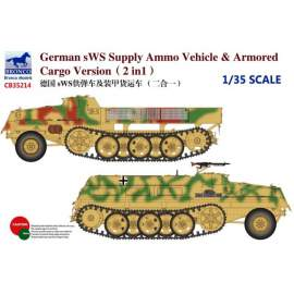 Bronco Model 1:35 German sWS Supply Ammo Vehicle & Armored Cargo Version