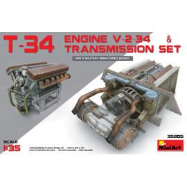 Miniart 1:35 T-34 Engine(V-2-34) & Transmission Set