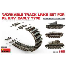 Miniart 1:35 Pz.Kpfw III/IV Workable Track Links Set.Early Type