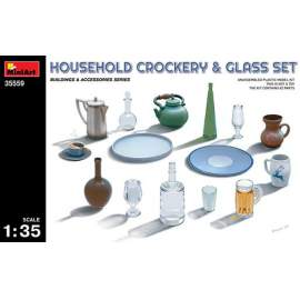 Miniart 1:35 Household Crockery & Glass Set