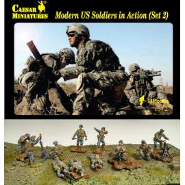 Caesar Miniatures 1:72 - Modern U.S. Soldiers In Action set 2