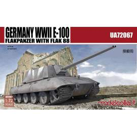 Modelcollect 1:72 Germany WWII E-100 Flakpanzer w.FLAK 88