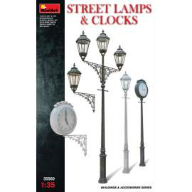 Miniart - 1:35 Street Lamps & Clocks