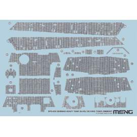 Meng Model 1:35 German Heavy Tank Sd.Kfz.182 King Tiger Zimmerit Decal