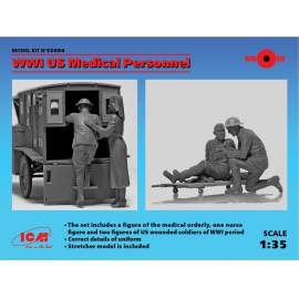 ICM 1:35 WWI US Medical Personnel