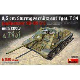 Miniart - 1:35 Jagdpanzer SU-85 (r) with Crew