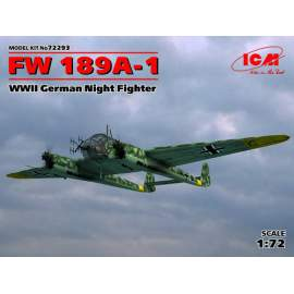 ICM 1:72 Focke-Wulf Fw-189A-1 WWII German Night Fighter