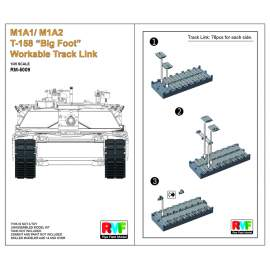 "Ryefield model 1:35 M1A1/ M1A2 T-158""Big Foot""Workable Track Link"